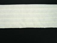 "Ivory Trapunto Trim Folded Tricot w/ 10 rows of stitching - 1.875"" (IV0178T01)"