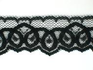 """Black Edge Lace Trim - 1.25"""" (BK0114E04)"""