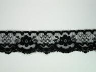 """Black Edge Lace Trim - 1.375"""" (BK0138E03)"""