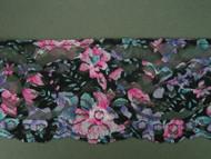 "Multi-Color Floral Print Edge Lace Trim - 2.875"" (MC0278E01)"
