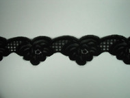 "Black Scalloped Lace Trim - 2.5"" (BK0212S01)"