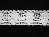 """White Galloon Stretch Lace Trim - 1.125"""" (WT0118G03)"""