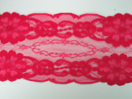 """Cherry Pink Galloon Lace Trim - 4.375"""" (CH0438G01)"""