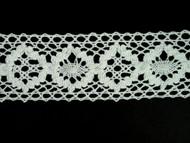 "Off White Edge Lace Trim - Cotton - 2"" (WT0200E01)"