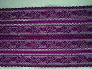 "Grape Galloon Lace Trim - 5.625"" (GR0558G01)"