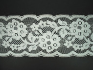"""Off White Galloon Lace Trim - Cotton - 4.75"""" (WT0434G02)"""