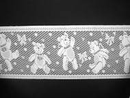 "White Insertion Lace Trim - Teddy Bears - 4.375"" (WT0438E01)"