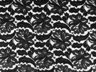 "Black Allover Stretch Lace - 48/50"" (BKAL02)"