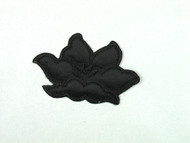 """Black Embroidered Satin Iron-On Applique - 3.25"""" wide x 2.125"""" (APM071)"""