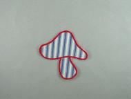 """Blue & Red Mushroom Applique - 3.5"""" x 3.5"""" (APM077)"""