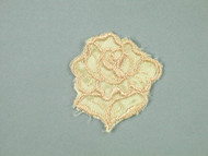 "Beige Embroidered Satin Rose Applique - 1.75"" wide x 2"" Tall (APM059)"