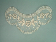 "Beige Embroidered Netting Yoke - 6.25"" wide x 3.75"" (APY011)"