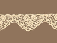 "Beige Scalloped Lace Trim - 2.625"" (BG0258S01)"