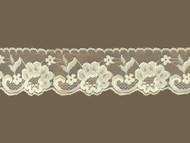 "Ivory Edge Lace Trim w/ sheen - 2.5"" (IV0212E03)"