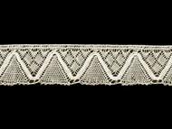 "Off White Edge Lace Trim - Cotton - 1.5"" (WT0112E06)"