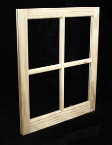 24 x 29 Natural Pine Barn Sash Window (BSW2429)