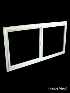 Custom Sized White PVC Non-Insulated Gliding Window - Clear Glass