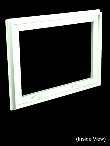 32 X 23 1 4 White Pvc Hopper Awning Window Nvc3224w