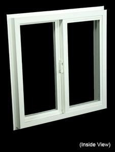 23-1/2 x 23-1/2 White PVC Insulated Gliding Window (NVSS2424W)