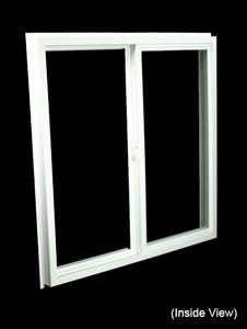 35-1/2 x 35-1/2 White PVC Insulated Gliding Window (NVSS3636W)