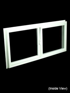43 x 19-1/4 White PVC Insulated Gliding Window (NVSS4320W)