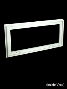 43 x 19-1/4 White PVC Insulated Hopper / Awning Windows (NVC4320W)