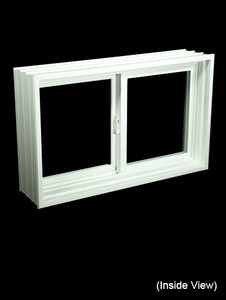 "31-7/8 x 19-7/8 Full 8"" Jamb PVC Gliding Windows (NVPP3220W7)"