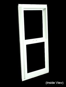 17-1/2 x 35-1/2 White PVC Insulated Single Hung Windows (NVSH1836WI)
