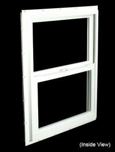 23-1/2 x 29-1/2 White PVC Insulated Single Hung Windows (NVSH2430WI)