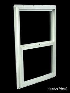 23-1/2 x 35-1/2 White PVC Insulated Single Hung Windows (NVSH2436WI)