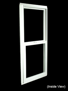 23-1/2 x 47-1/2 White PVC Insulated Single Hung Windows (NVSH2448WI)