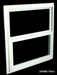 29-1/2 x 29-1/2 White PVC Insulated Single Hung Windows (NVSH3030WI)