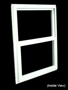 29-1/2 x 35-1/2 White PVC Insulated Single Hung Windows (NVSH3036WI)