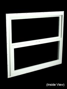 35-1/2 x 29-1/2 White PVC Insulated Single Hung Windows (NVSH3630WI)