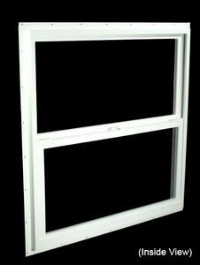 35-1/2 x 35-1/2 White PVC Insulated Single Hung Windows (NVSH3636WI)