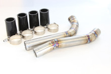Evo X upper radiator hard pipe kit