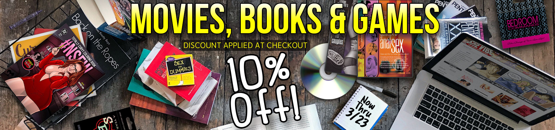 10% off Movies, Books & Games - Now Thru 3/3 - Discount Applied At Checkout