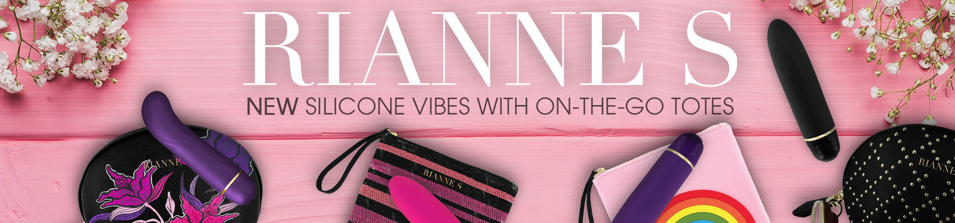NEW Rianne S Silicone Mini Vibes With On-The-Go Totes!