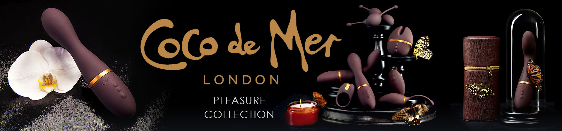 Shevibe Invites You To Discover Coco De Mer. Luxurious, Seductive Pleasure Toys To Fuel Your Erotic Imagination.