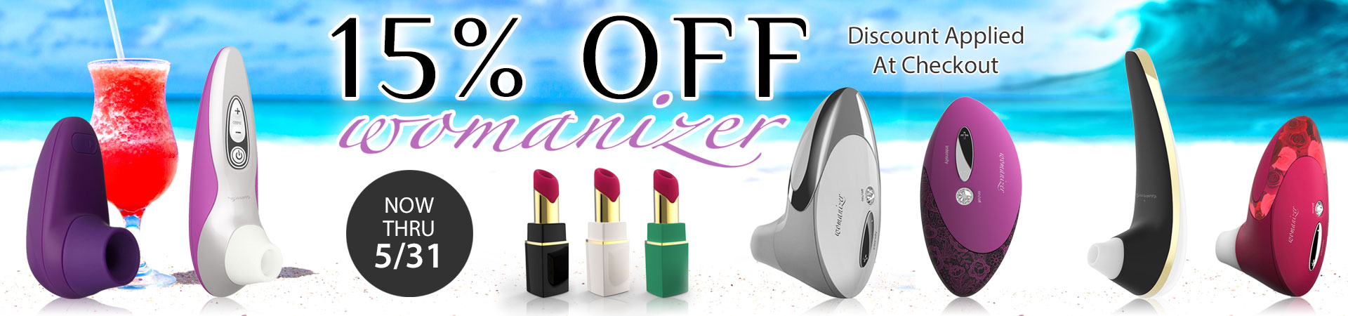 ORGASMIC SAVINGS At SheVibe With 15% OFF Womanizer! Sale Ends 5/31!