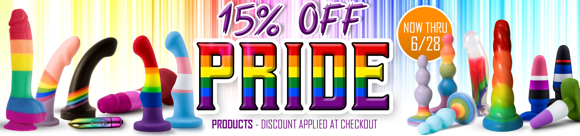 15% Off Pride Products - Now Thru 6/28