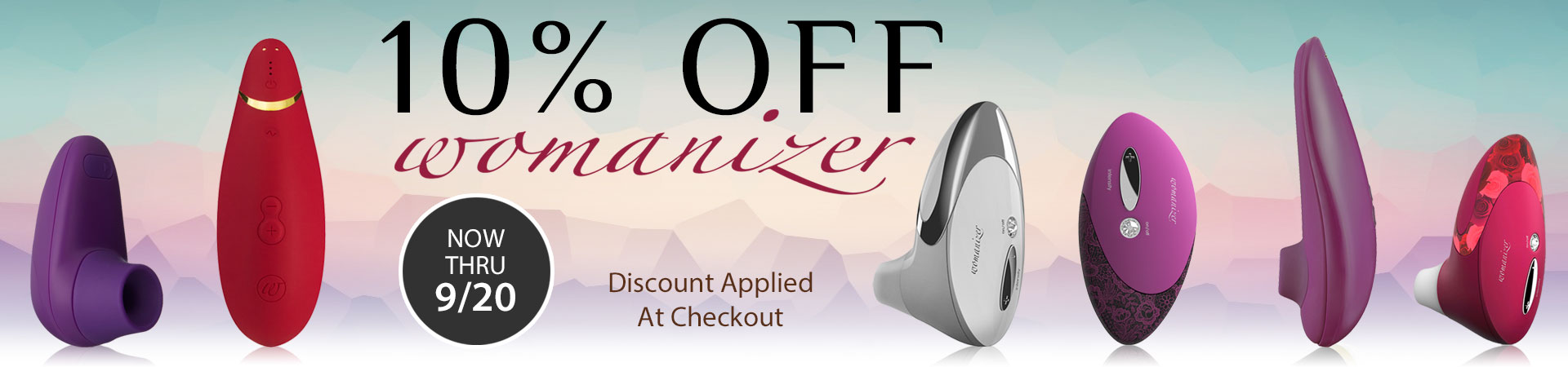 10% Off Womanizer - Now Thru 9/20 - Discount Applied At Checkout