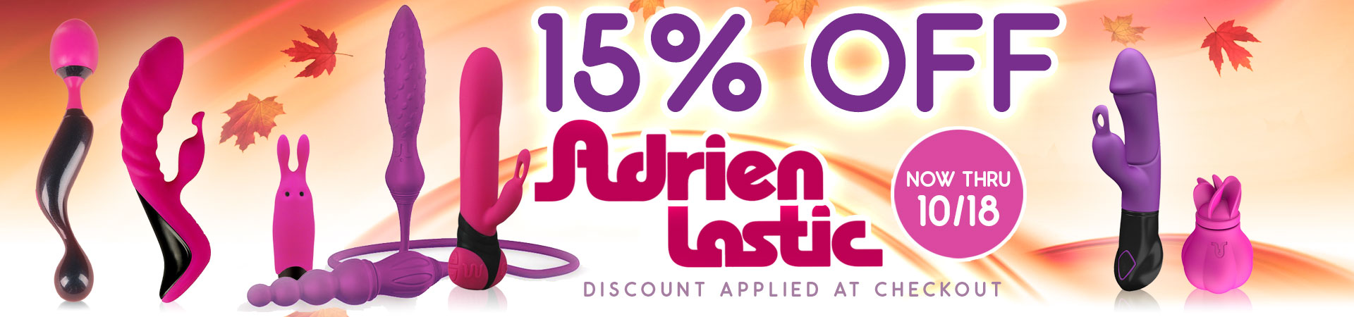 15% Off Adrien Lastic Toys - Now Thru 10/18 - Discount Applied At Checkout