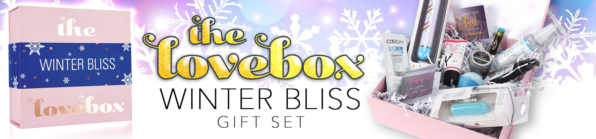 Great Gift Idea! Winter Bliss Lovebox Curated Collection Of Pleasure Products