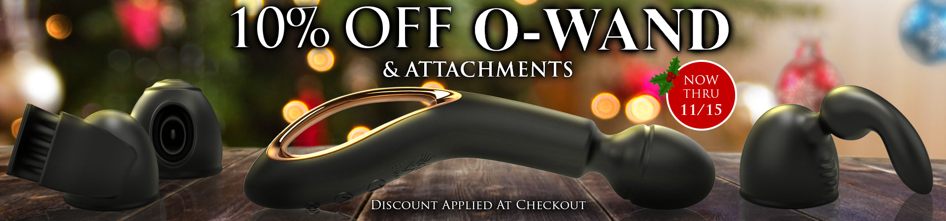 SheVibe Invites You To Give The Gift Of Mind Blowing Pleasure! Save 10% On The O-Wand & O-Wand Accessories Through November 15th!