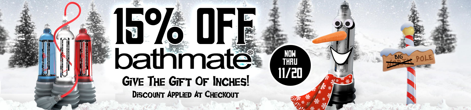 SheVibe Is PUMPED For The Holidays! Save 15% On All Hydromax By Bathmate Pumps And Give The Gift Of Inches! Sale Ends November 20th.