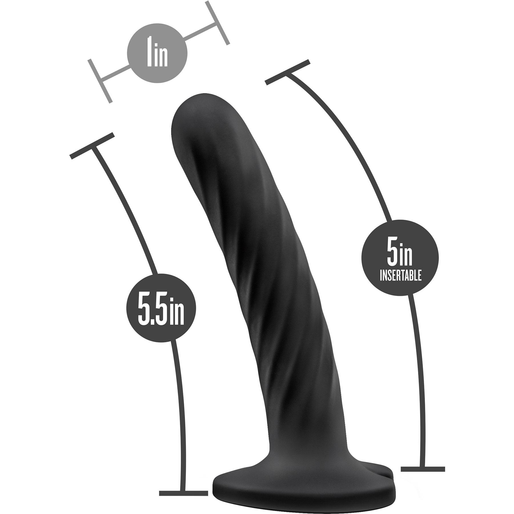 Temptasia Twist Silicone Dildo By Blush Medium - Measurement