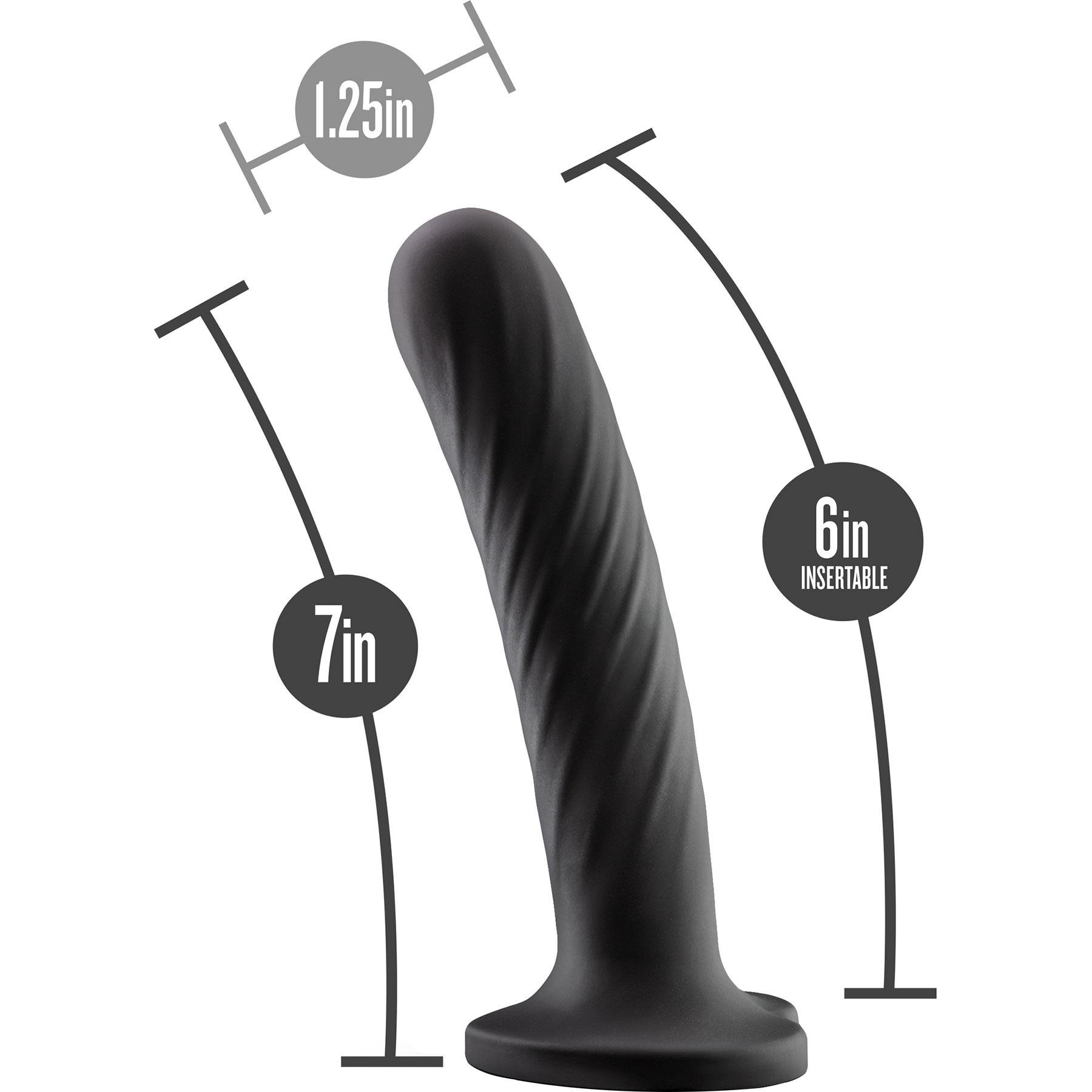 Temptasia Twist Silicone Dildo By Blush Large - Measurement