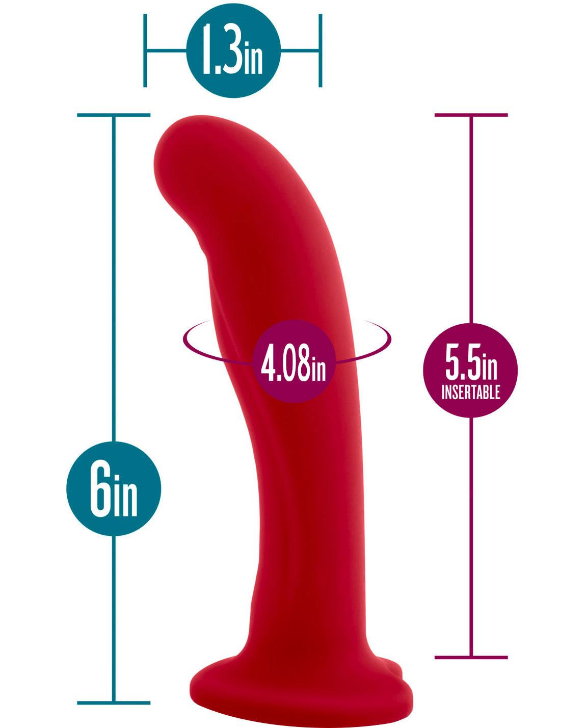 Temptasia Jezebel Silicone Dildo - Measurement