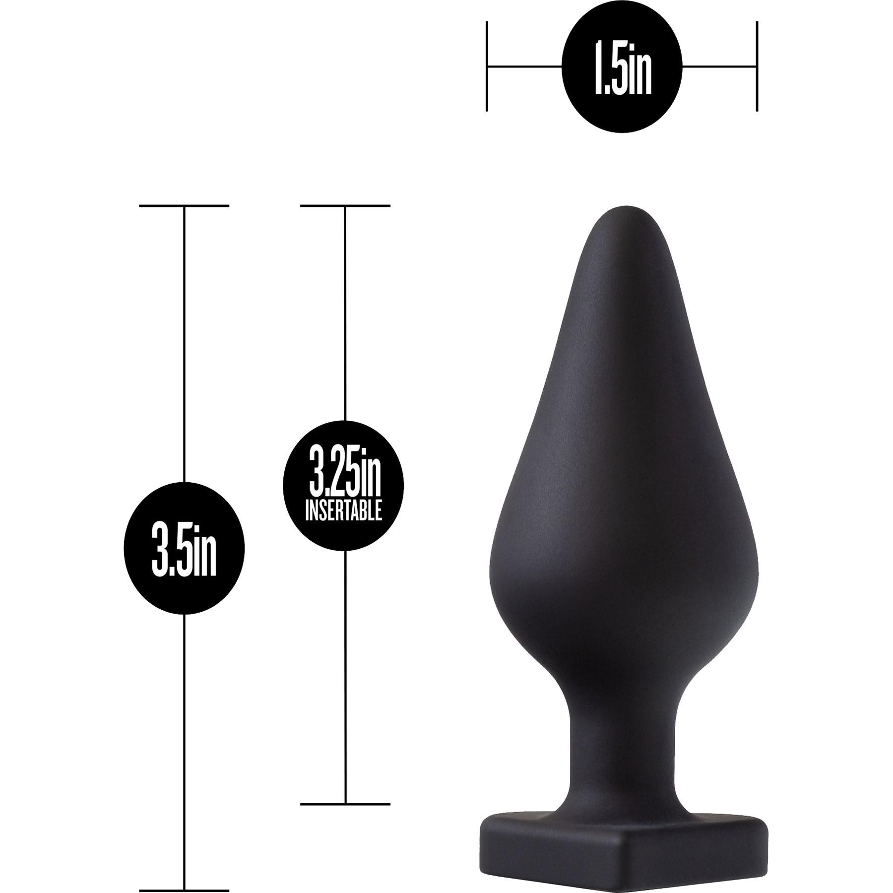 Temptasia Spank Me Silicone Butt Plug By Blush - Measurements
